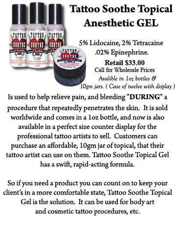 Tattoo Soothe Gel Information